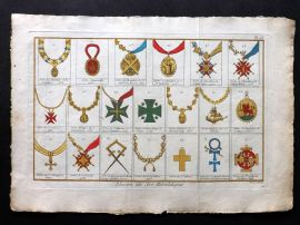 Diderot C1790 Folio Hand Col Heradly Print 25 Medals